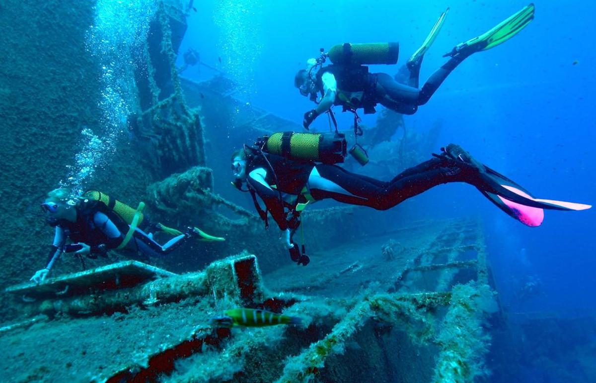 Scuba diving at Zenobia Wreck